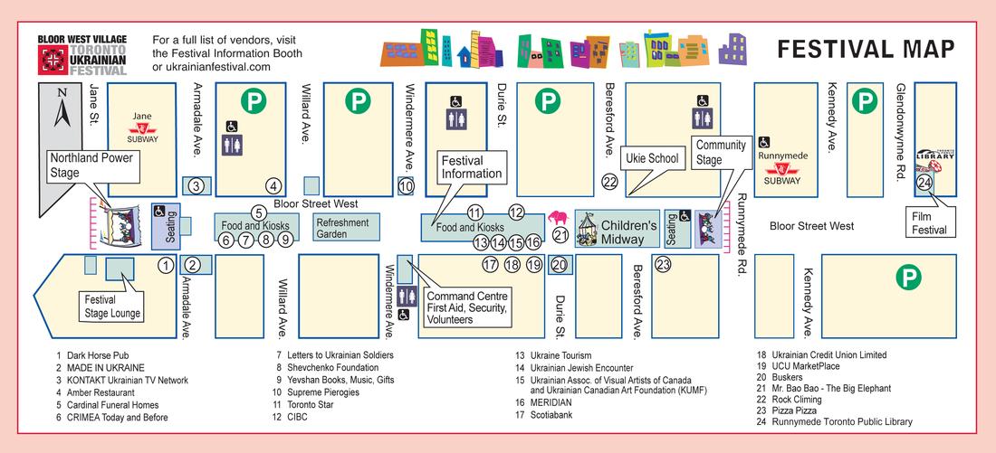 Bloor Danforth Subway Map.2017 Program Toronto Ukrainian Festival